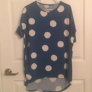 Blue and white LulaRoe Irma top - XS